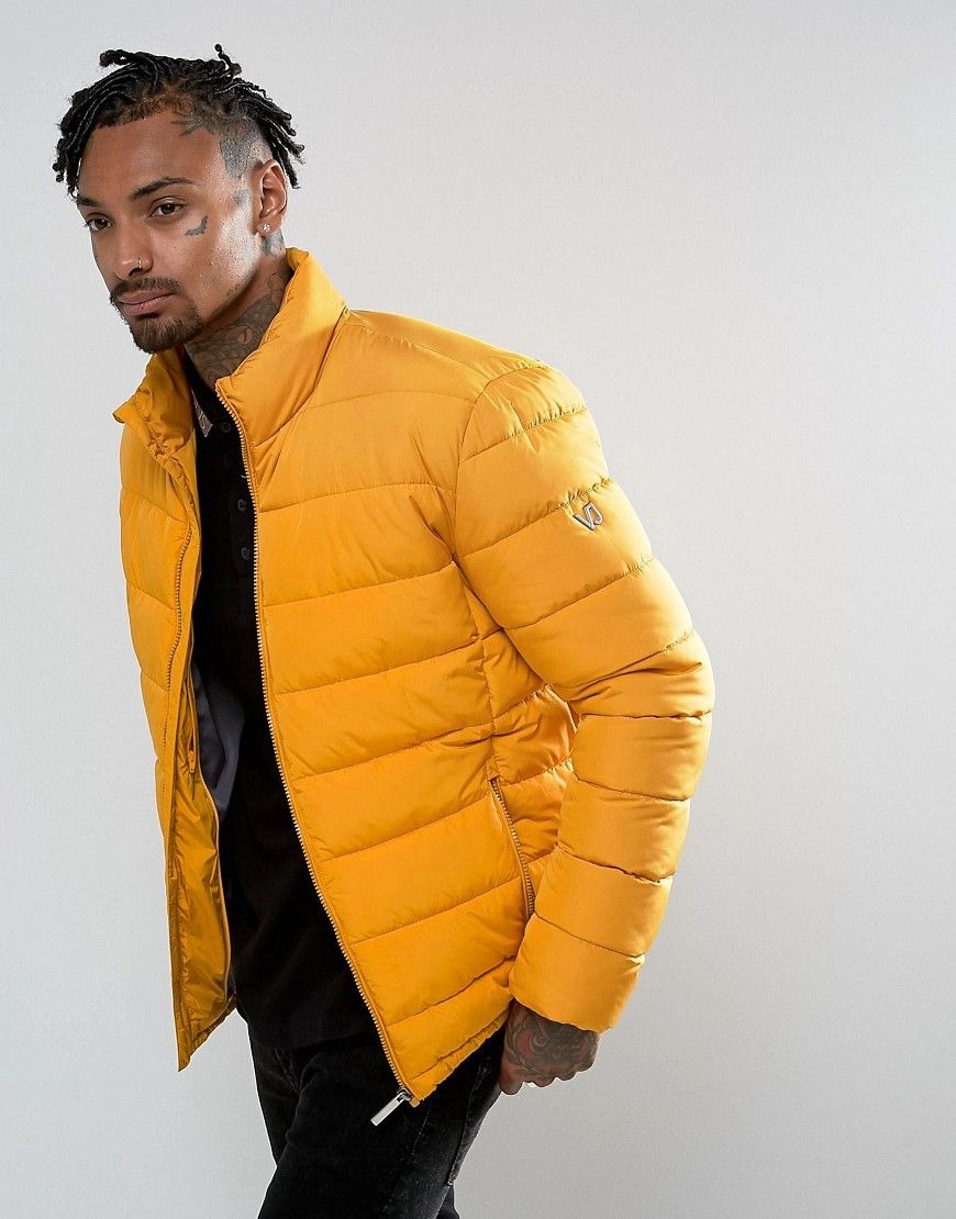 wide selection of designs super cute high fashion Versace Jeans Puffer Jacket In Yellow - Yellow   Yhello in ...