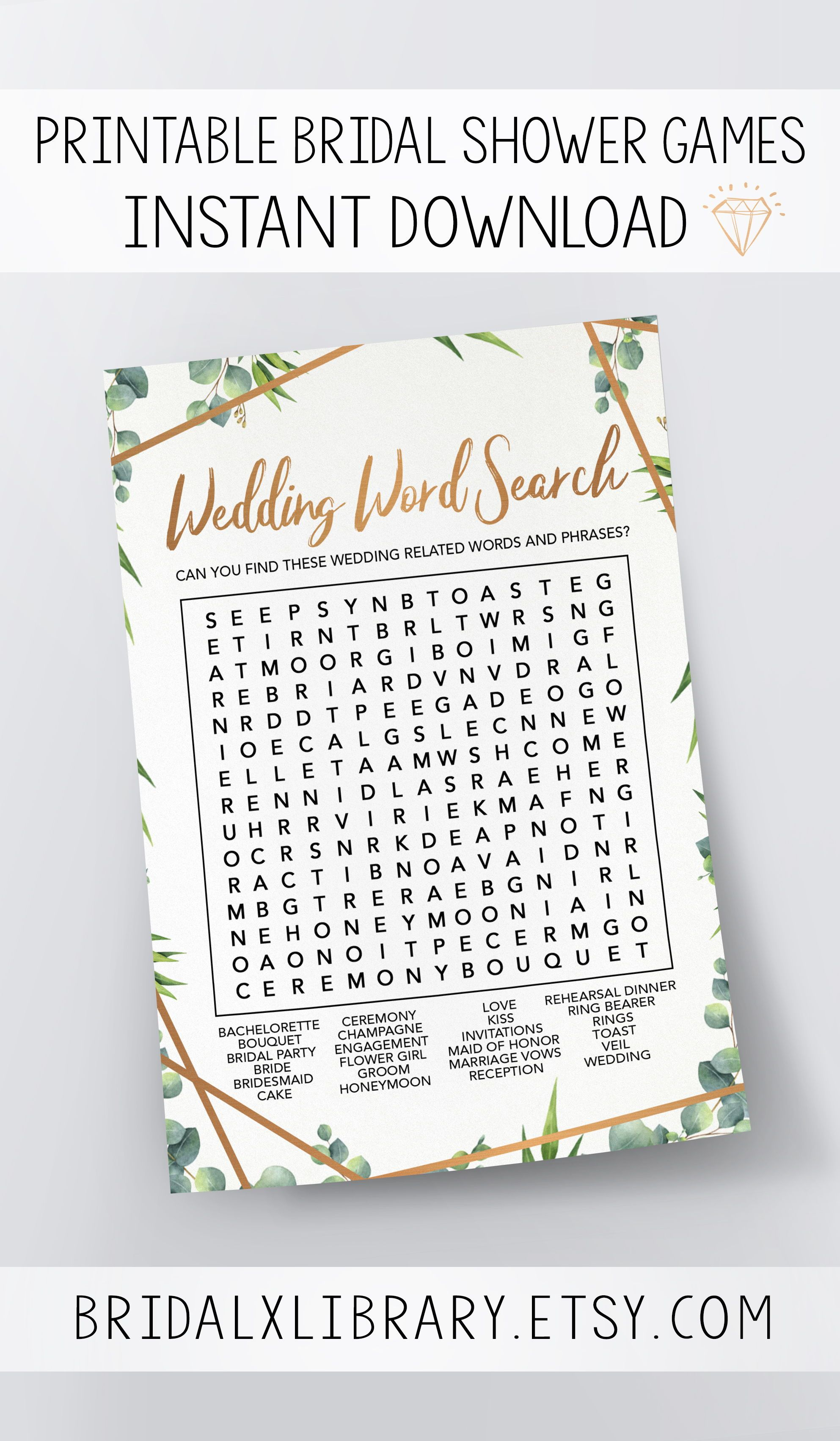 wedding word search bridal shower games printables bridal shower game idea bridal shower download wedding game bridal shower game