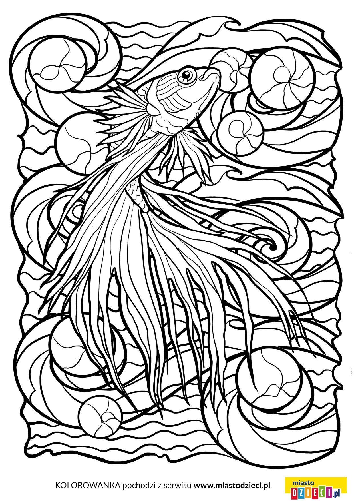 Kolorowanki Antystresowe Ryba Abstract Artwork Female Sketch Coloring Pages