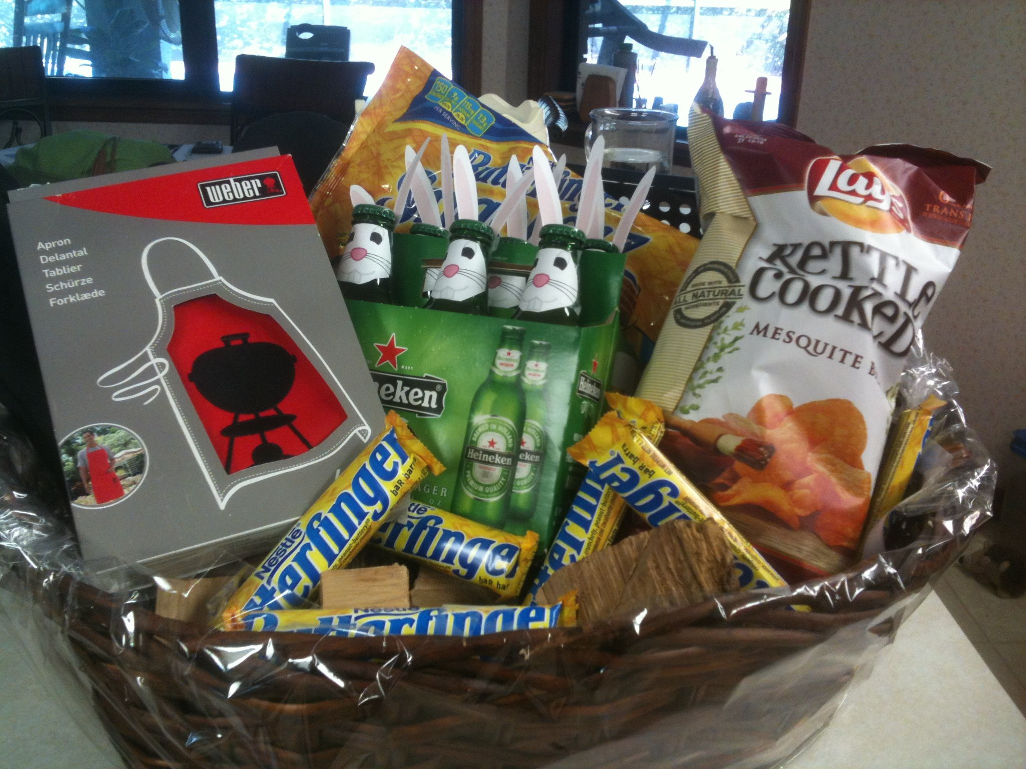 Easter basket for a man beer dressed like rabbits chips easter basket for a man beer dressed like rabbits chips butterfingers grilling negle Images