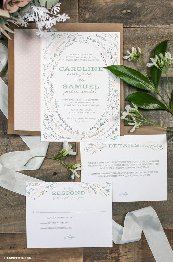 printable rustic wedding invitations pinterest weddings autumn