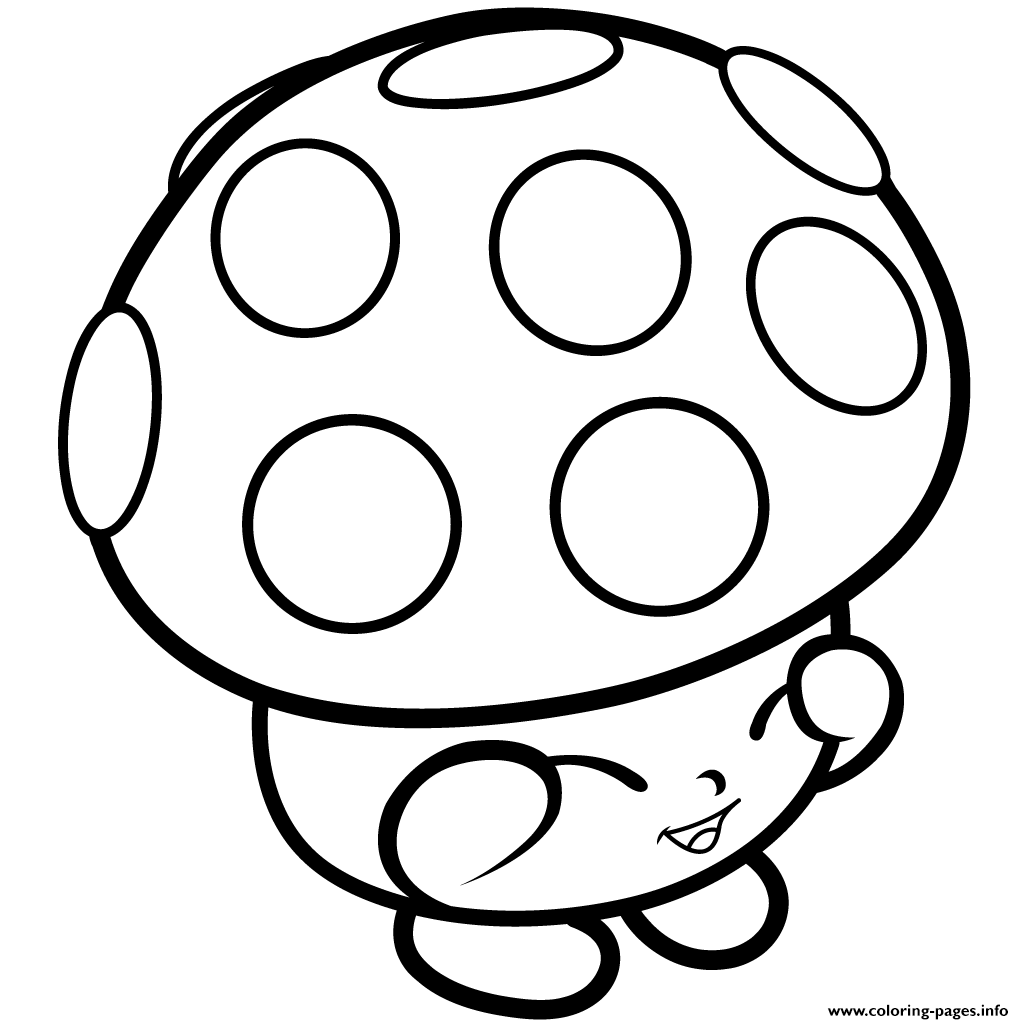 Mushroom Miss Mushy Moo Shopkins Season Coloring Pages Printable And Book To Print For Free Find More Online Kids Adults Of
