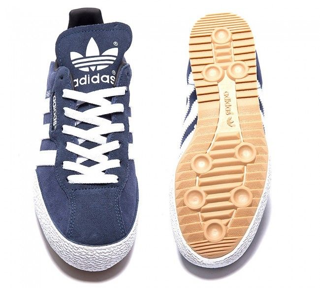 adidas Originals Womens Samba Super Suede navy white Shoes  720d0e3589