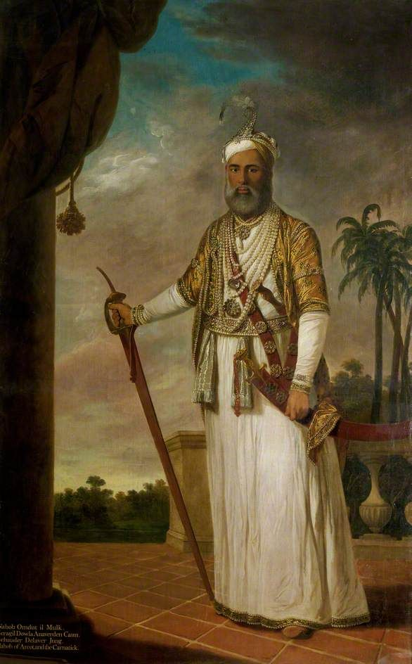 Muhammad Ali Khan (1717–1795), Nawab of Arcot, 1772-1776, by Tilly Kettle.