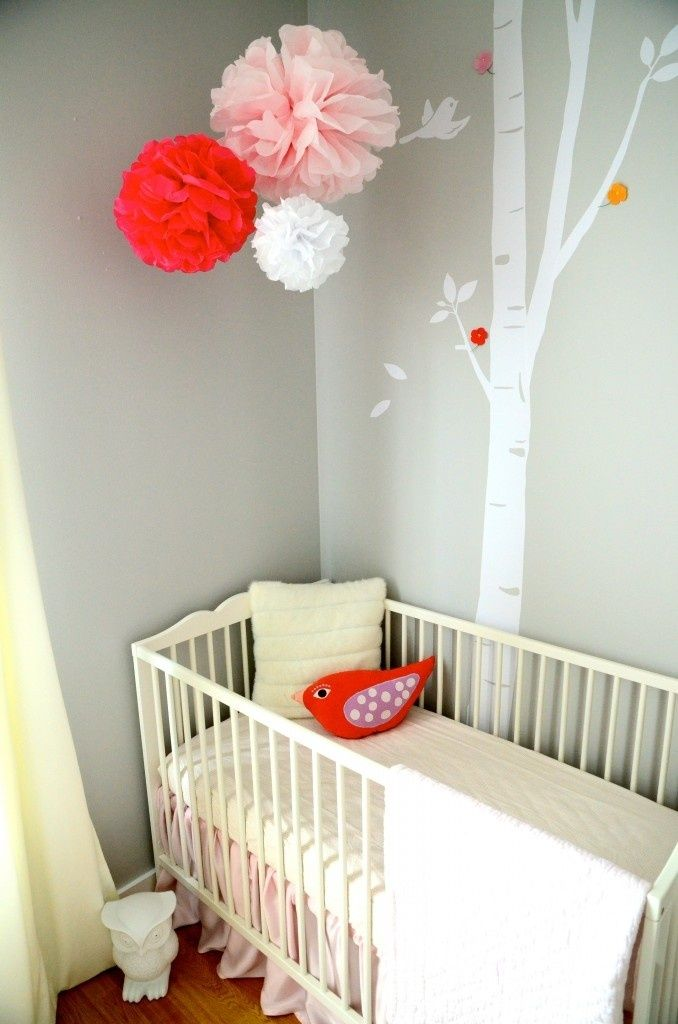 F chambre b b d coration nursery gar on fille baby - Idee decoration chambre bebe fille ...