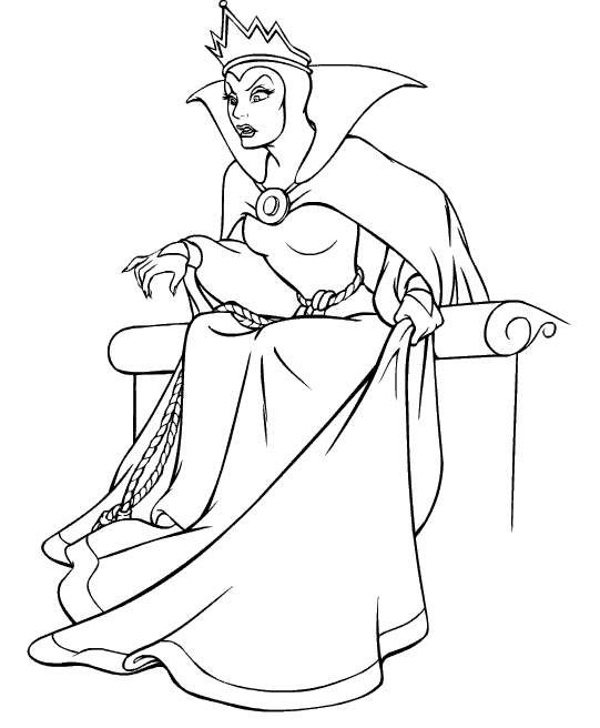 Evil Queen Coloring Disney Snow White Pinterest Snow White