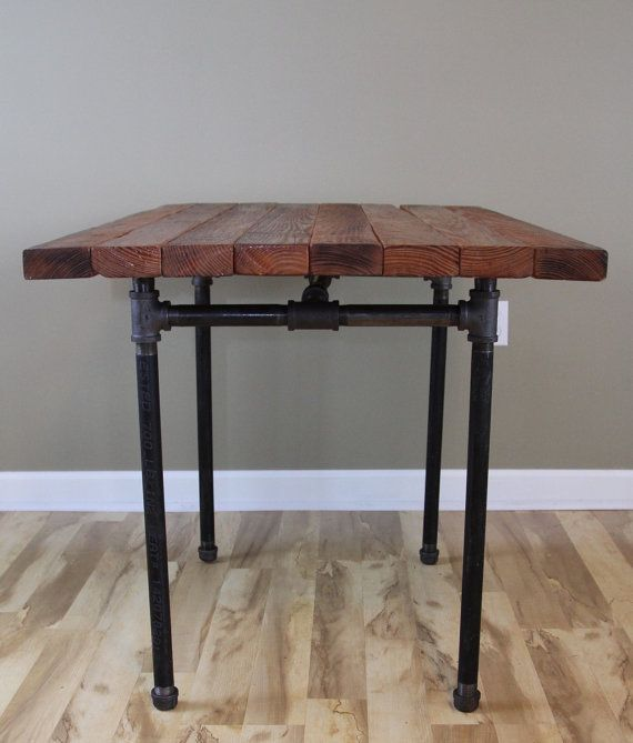 The Kitchen Table Reclaimed Wood Butcher Block Pub Dining Table Reclaimed  Farmhouse Table