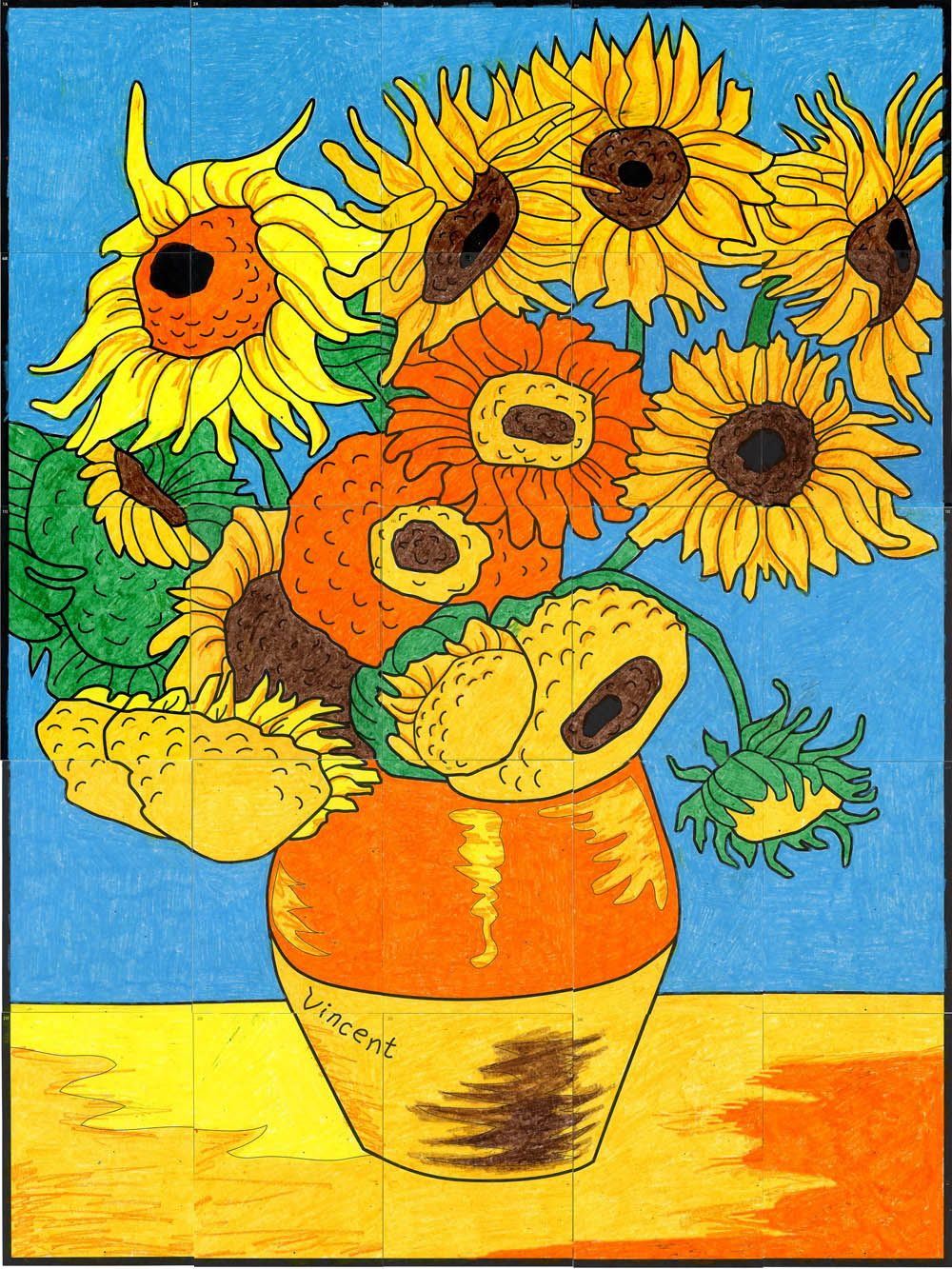 Van gogh s sunflower mural van gogh sunflowers and for Mural van gogh