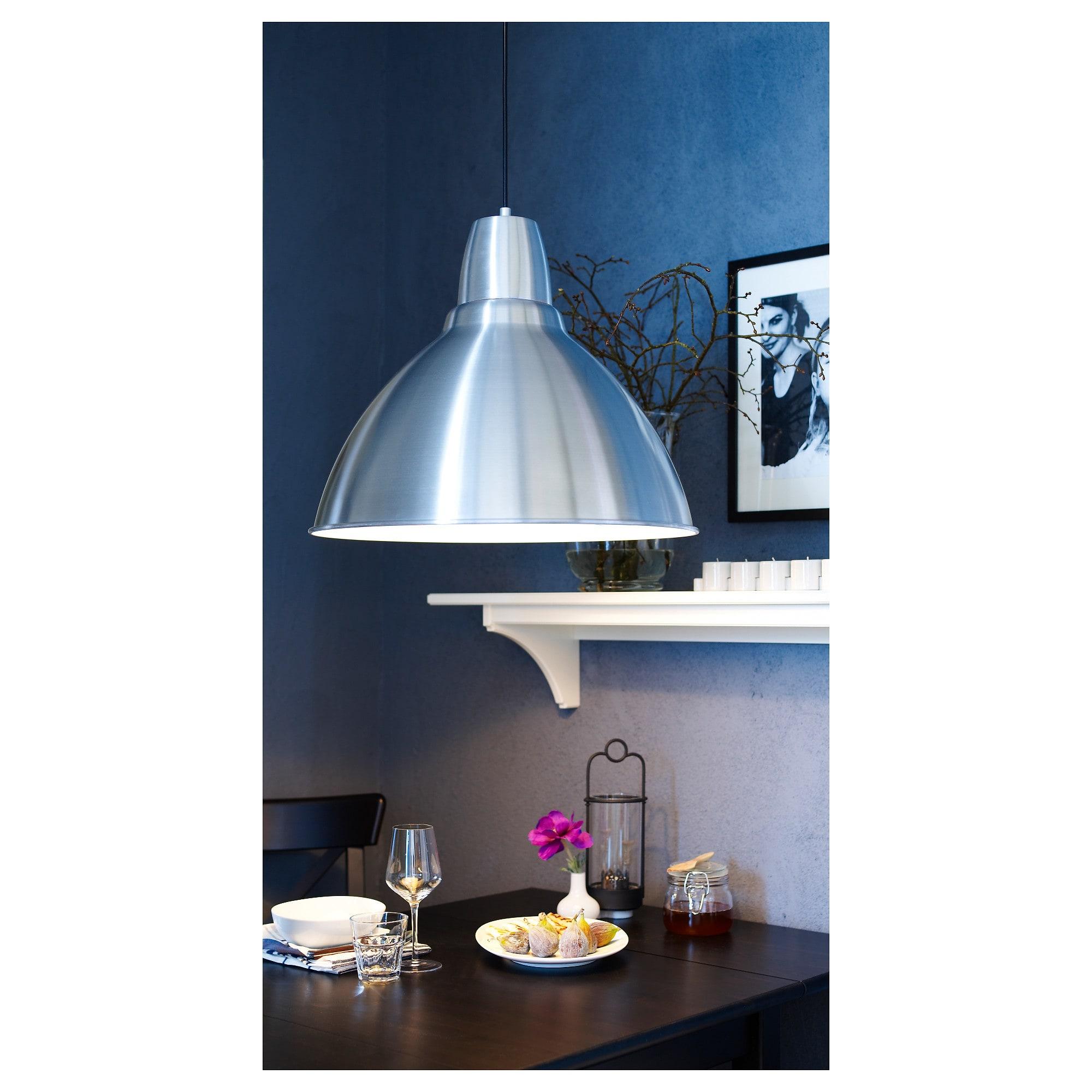 Foto Hangeleuchte Aluminium Aluminium Led Lampe Und Ikea