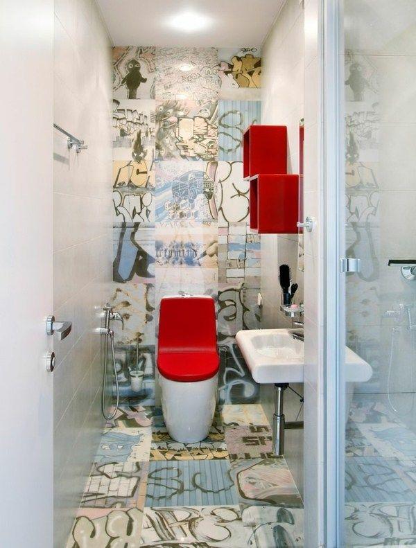 badezimmer gestalten bunte graffiti w nde bad und wc badezimmer bad und badezimmer gestalten. Black Bedroom Furniture Sets. Home Design Ideas