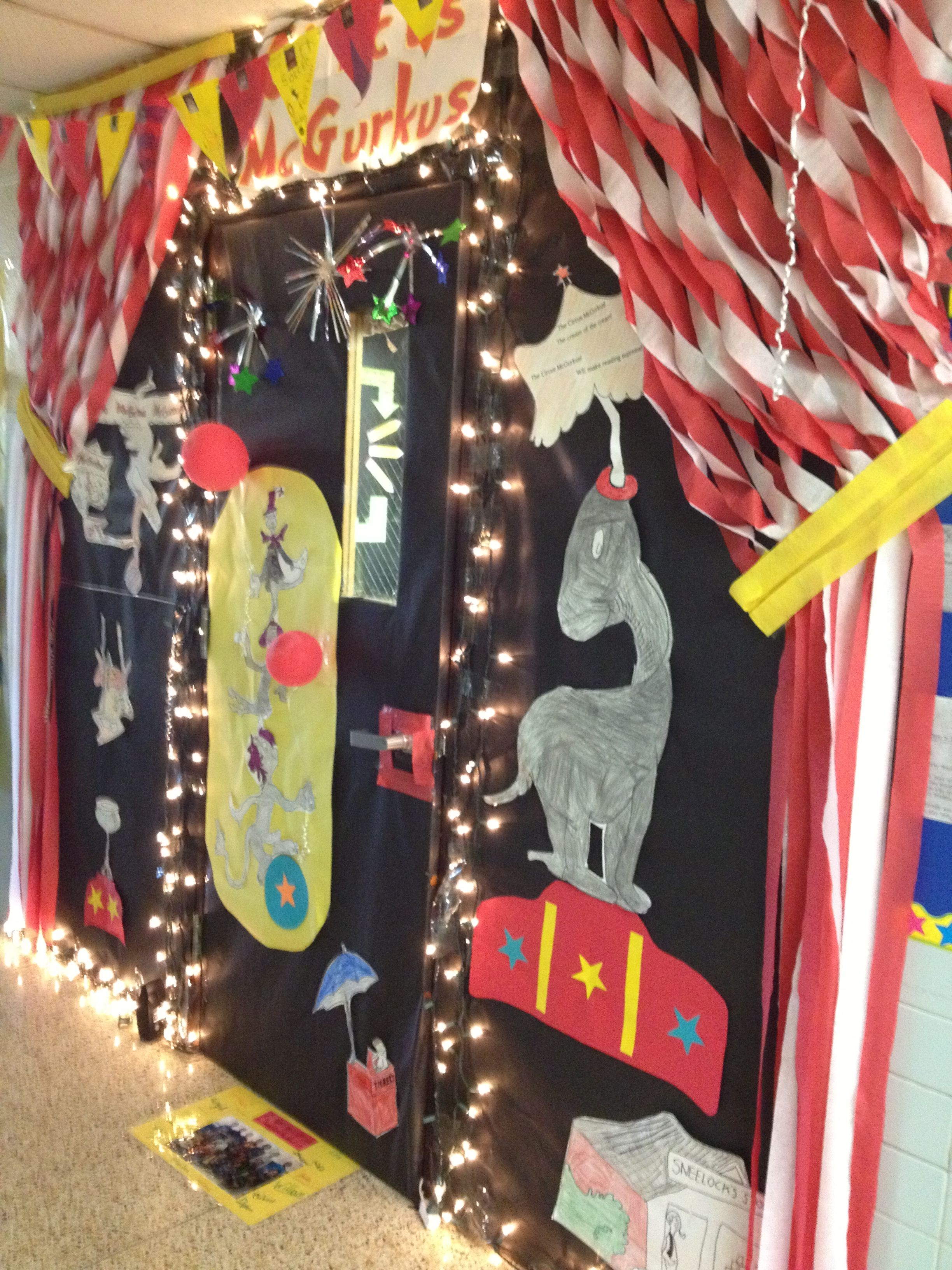 Captivating If I Ran The Zoo Circus McGurkus! Decorate The Door Competition!