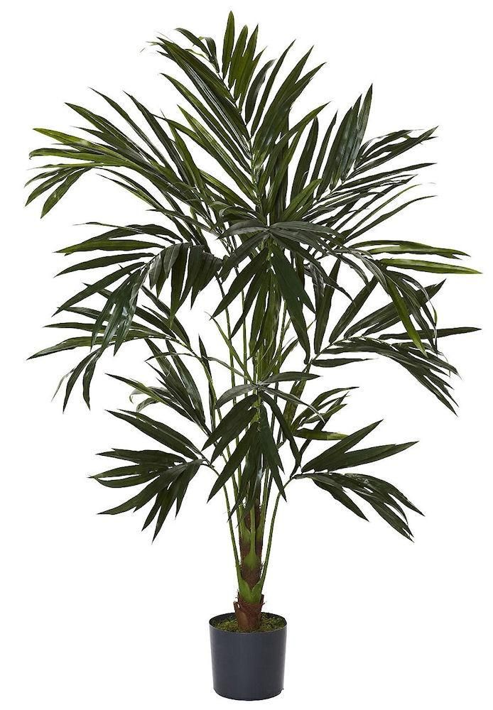 Kentia Palm Artificial Silk Tree with Planter   6 ft