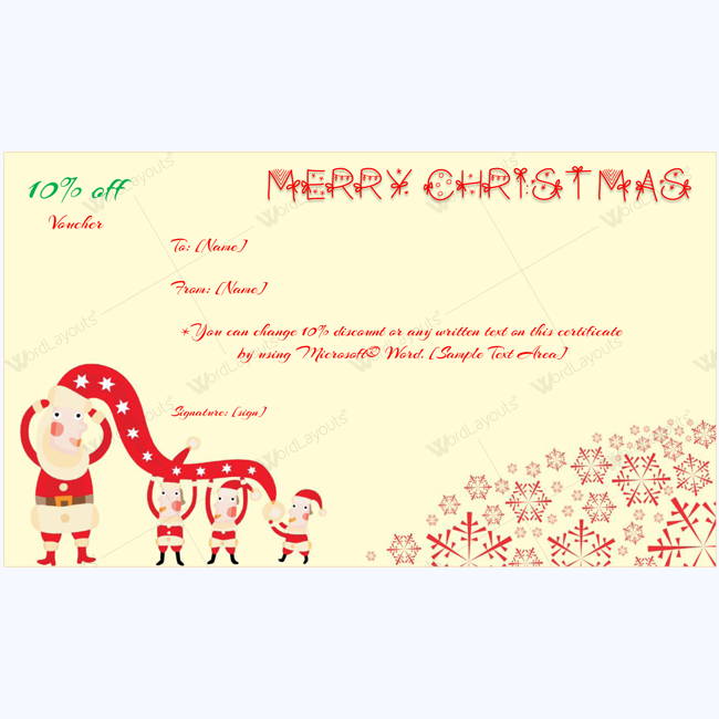 Merry Christmas Card Template Word Layouts Christmas Gift Certificate Template Gift Card Template Gift Certificate Template Word