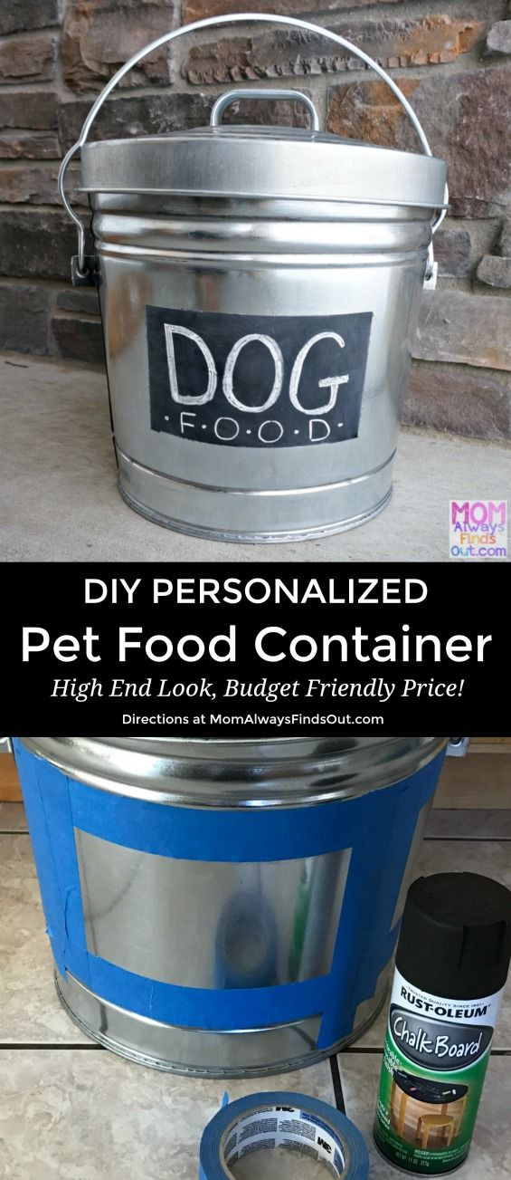 Diy Personalized Dog Food Container Start With A Galvanized Steel