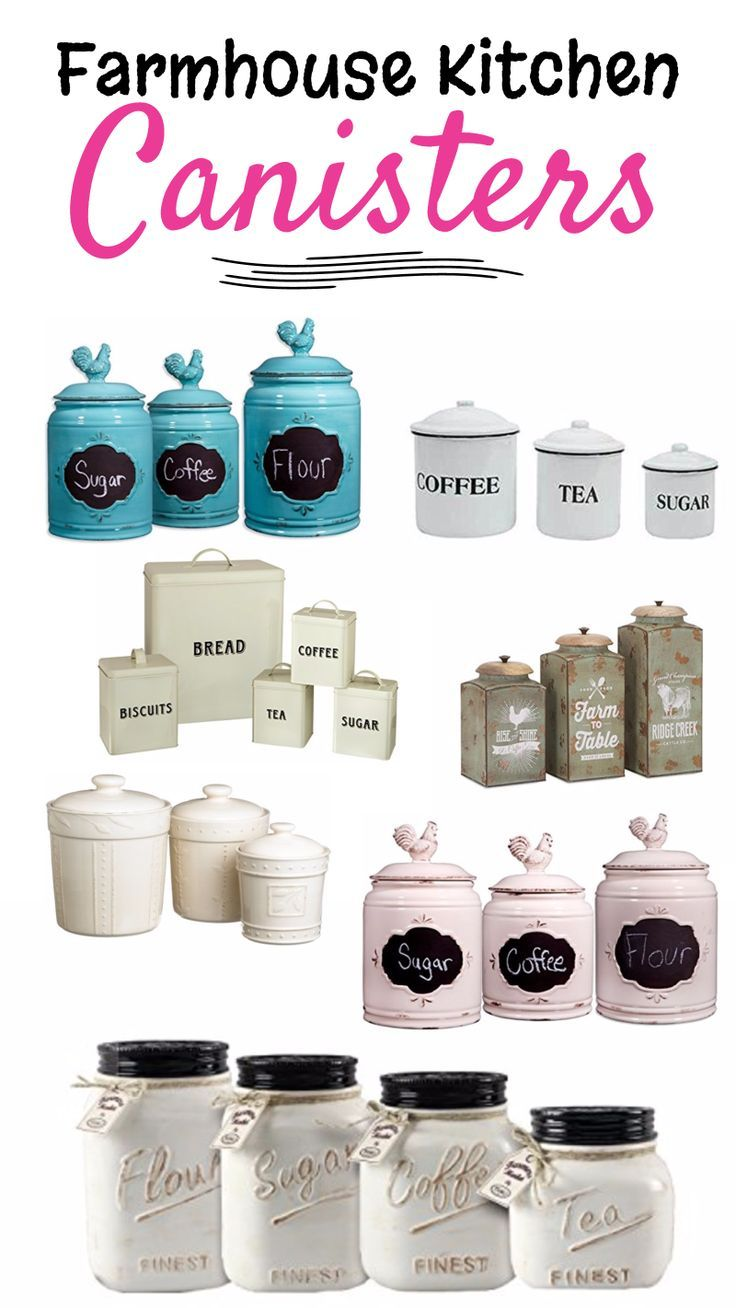 Farmhouse Kitchen Canister Sets and Farmhouse Decor Ideas | White ...