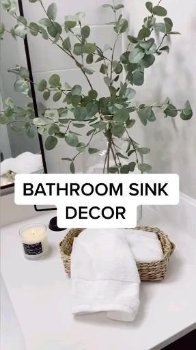 Bathroom sink decor idea