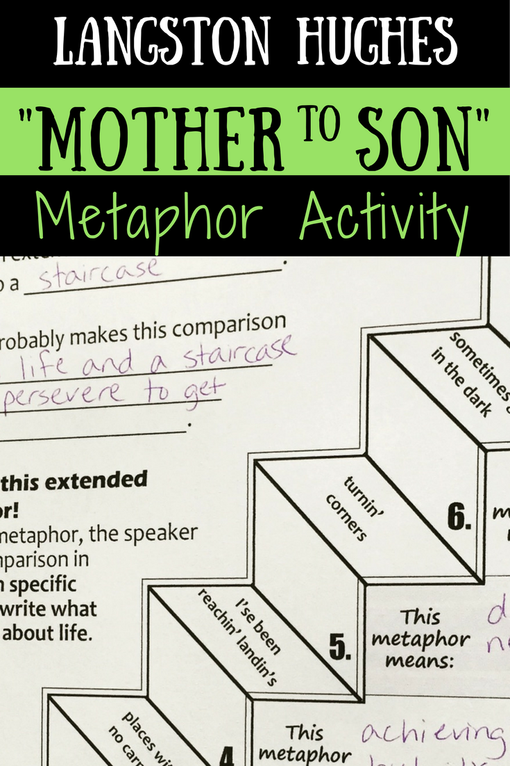 """Mother to Son"" Poem Activities - perfect for your middle school poetry  unit, figurative language lesson, Black History Month, Harlem Renaissance  study, ..."