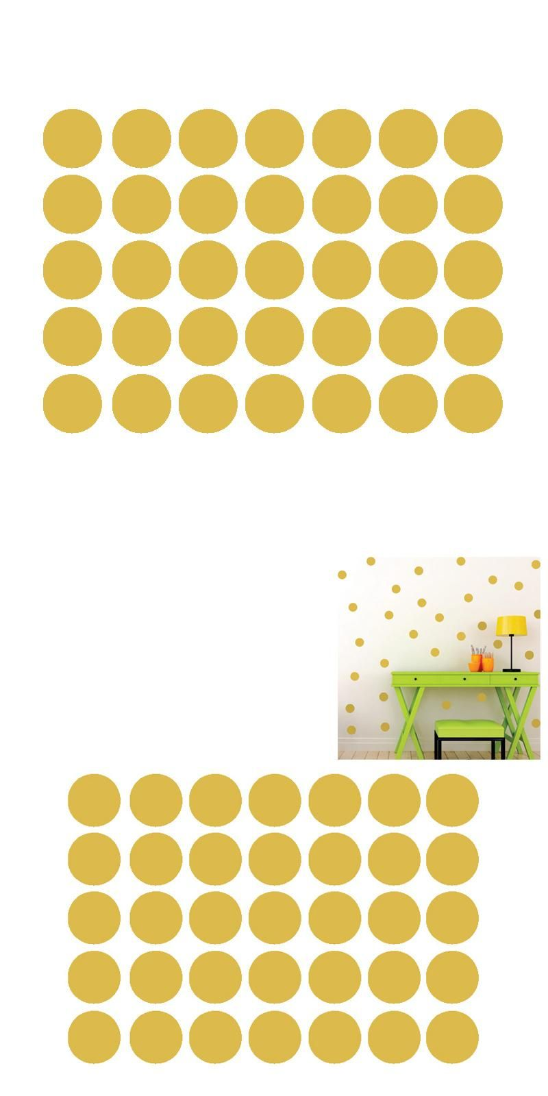 Visit to Buy] Polka Dots Wall Sticker Baby Nursery Stickers Kids ...