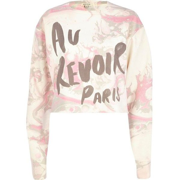 dcefe24a7a05fc ... liked on Polyvore featuring tops, hoodies, sweatshirts, jumpers, sale,  pink crewneck sweatshirt, sweat shirts, sweatshirt crop top, crew neck crop  top ...
