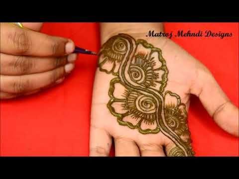 600c804411b74 Simple Arabic Mehandi Design | Easy and Quick Henna Tattoo | Indu's Henna -  YouTube