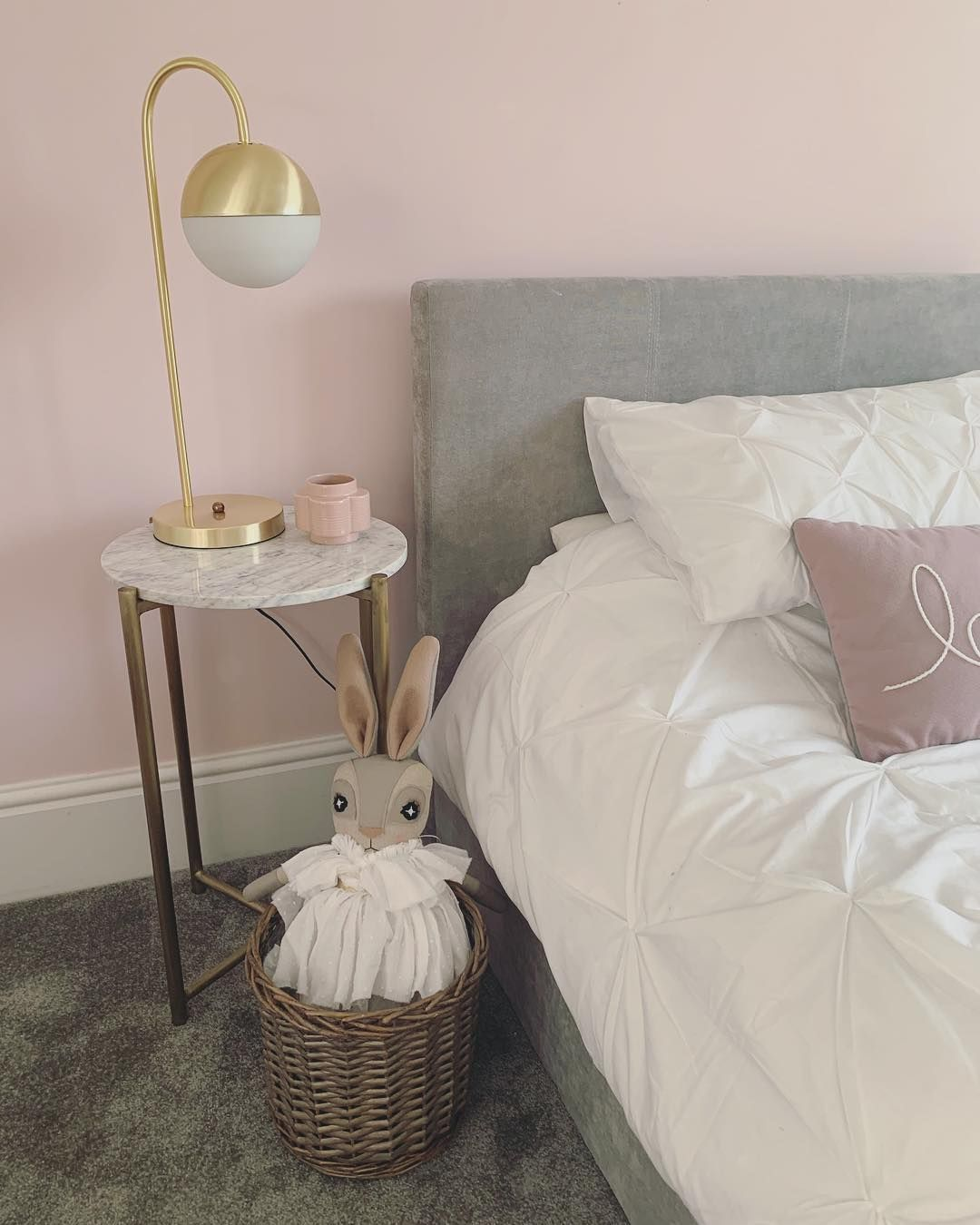 Cute Pink Bedroom Featuring Our Bedside Table Lamps Modern