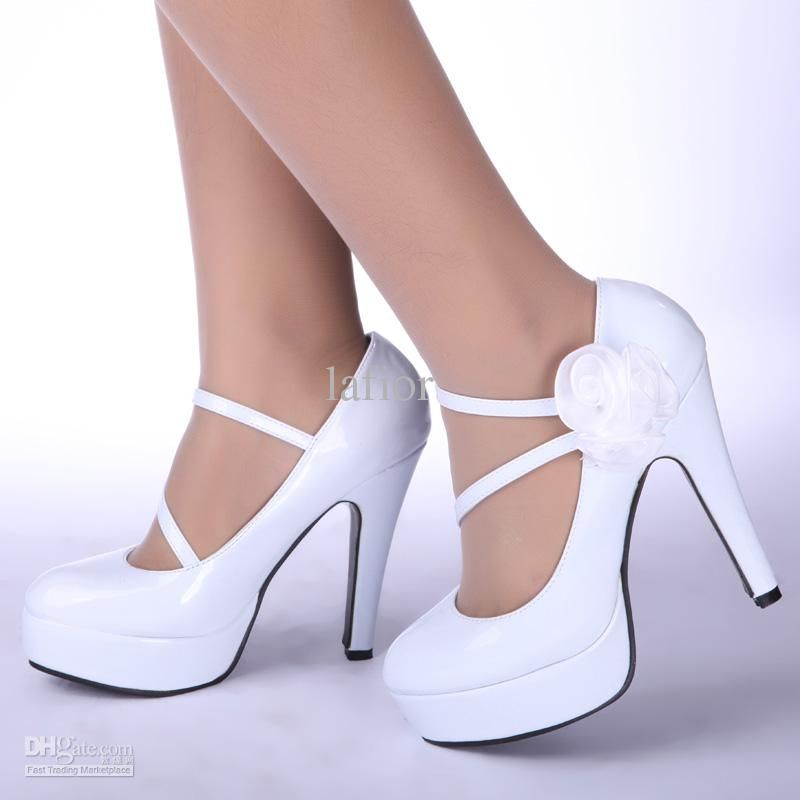 Wholesale Wedding Shoes Bride Shoes bridal white shoes high heeled shoes 10 cm size from 35-39 drop shipping, Free shipping, $33.47-37.41/Pair   DHgate
