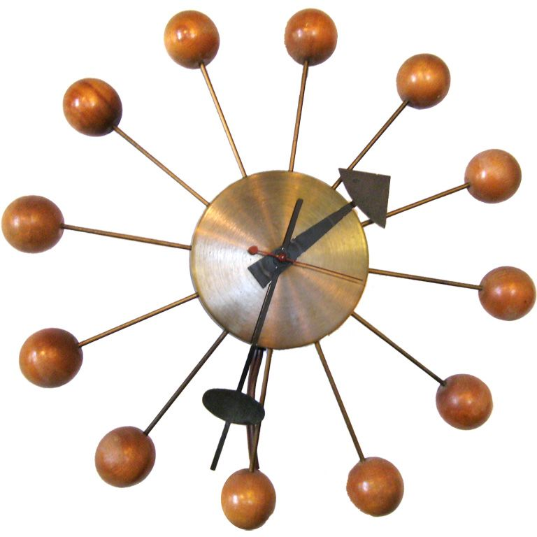 Swank Lighting Vintage Murano Designer Lamps Nelson Ball Clock Nelson Clock George Nelson Clocks