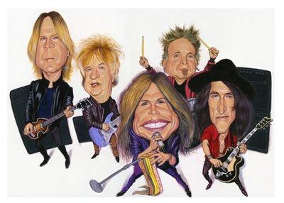 Aerosmith Caricature Caricature Caricature Drawing