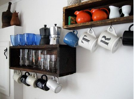Two Reasons To Try Save Cabinet Space Turn Mugs Into Decor With Coffee Mug  Display Shelf.