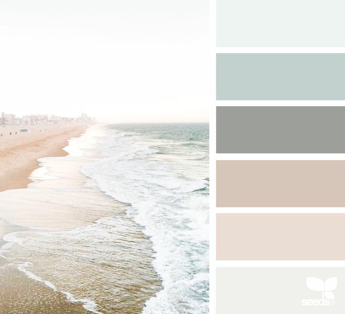 Zone inspiration - Combinaisons de couleurs pour décorer - Couleurs de plage #agencement # ...
