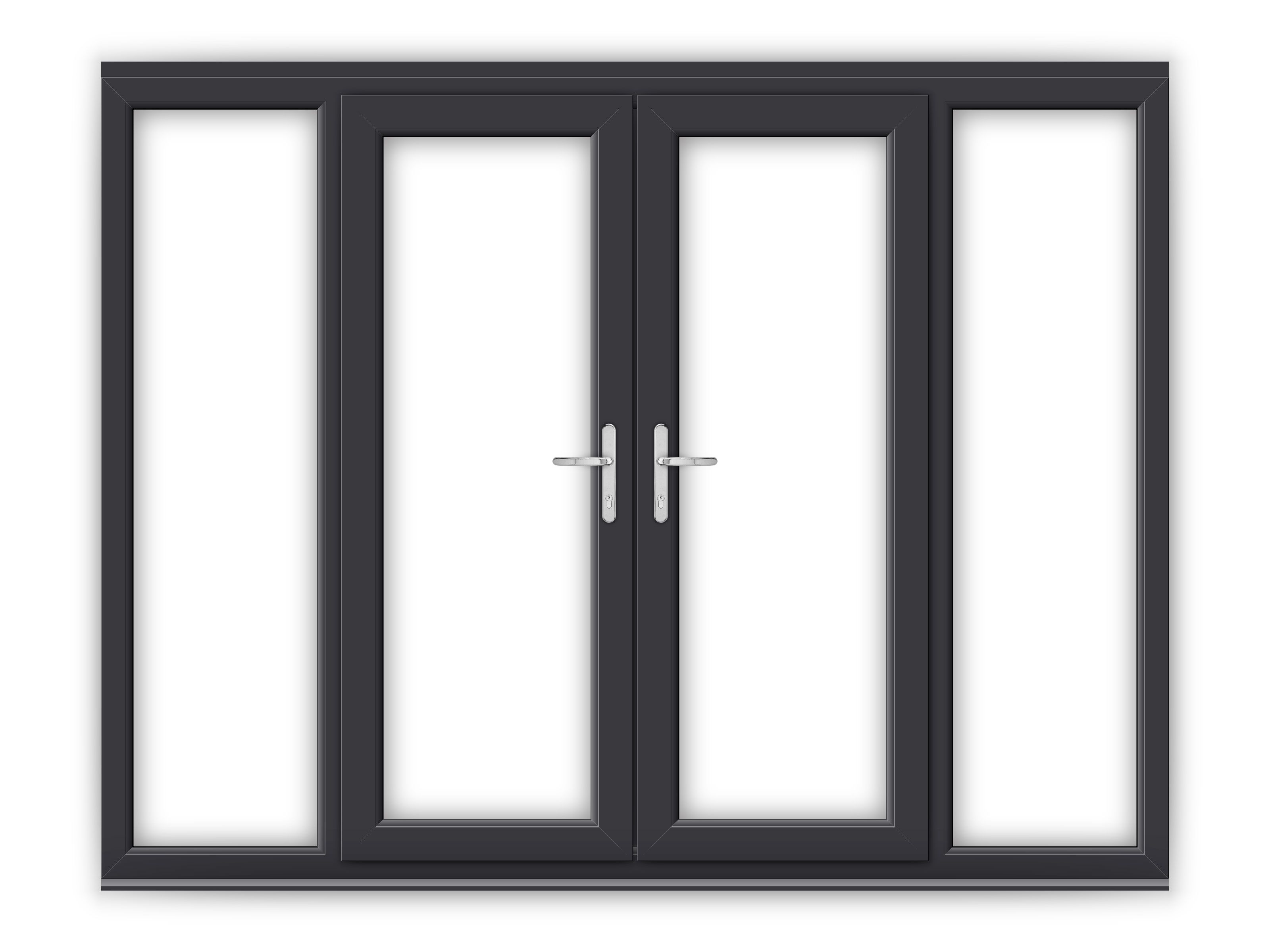 5ft Anthracite Grey Upvc French Doors With Wide Side Panels Upvc French Doors French Doors Upvc