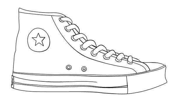 converse coloring pages printable - photo#14