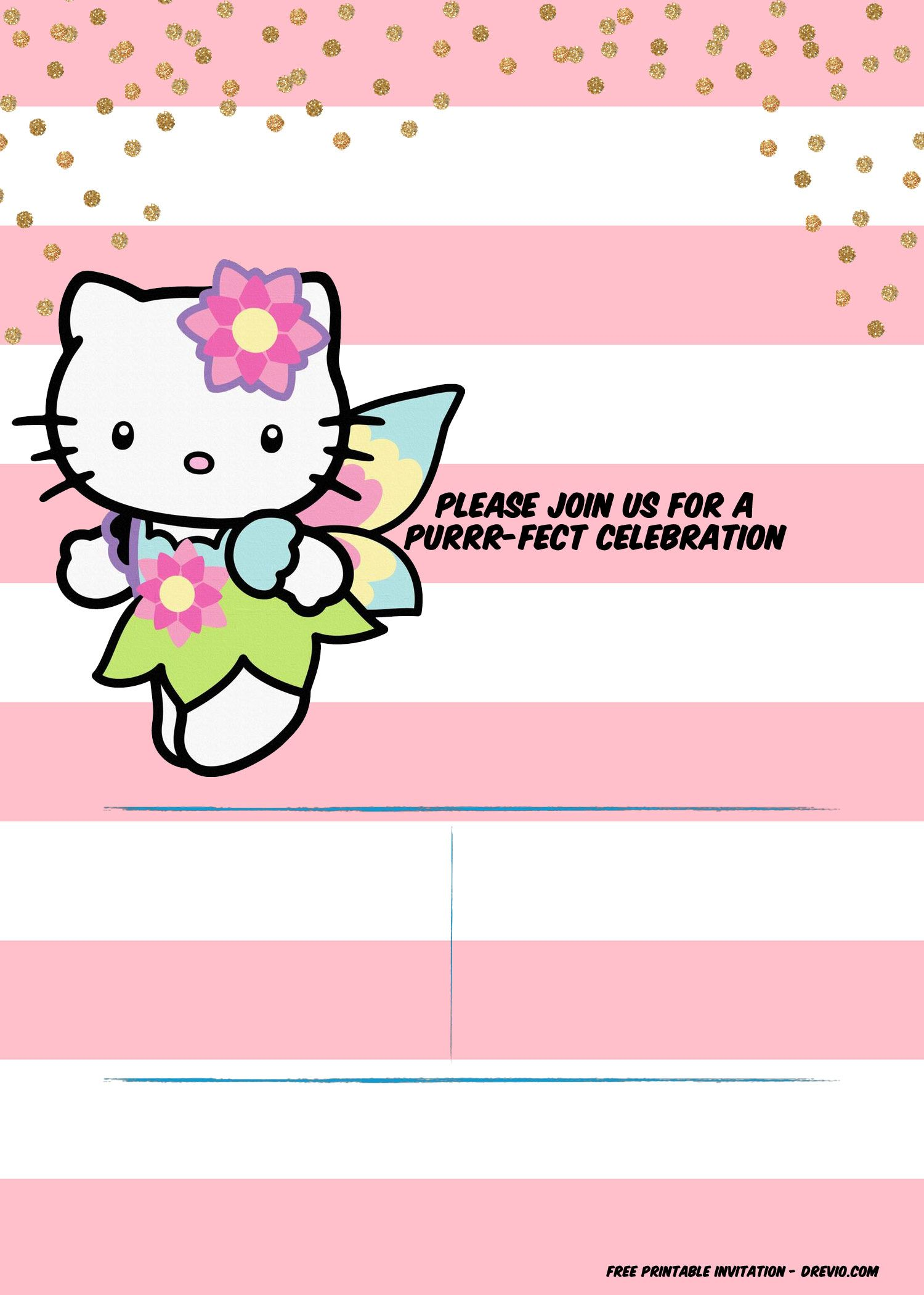 Download Now Hello Kitty Invitation Template