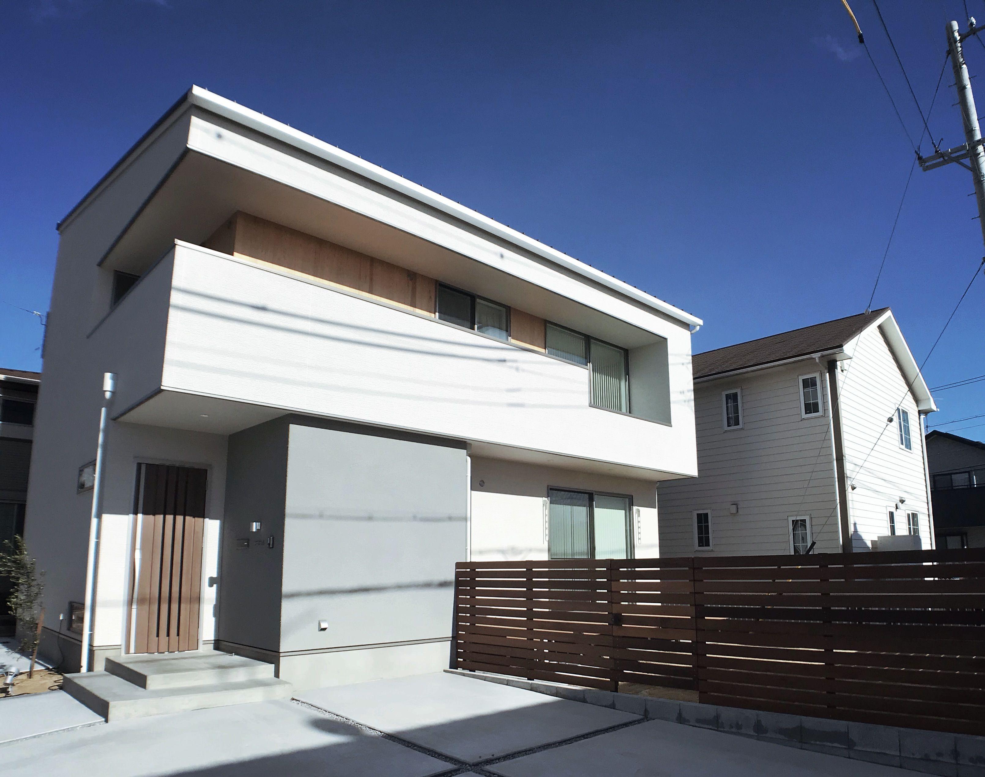 住宅 オシャレ 外観 家のデザイン日当たりの良い家 シンプルな家