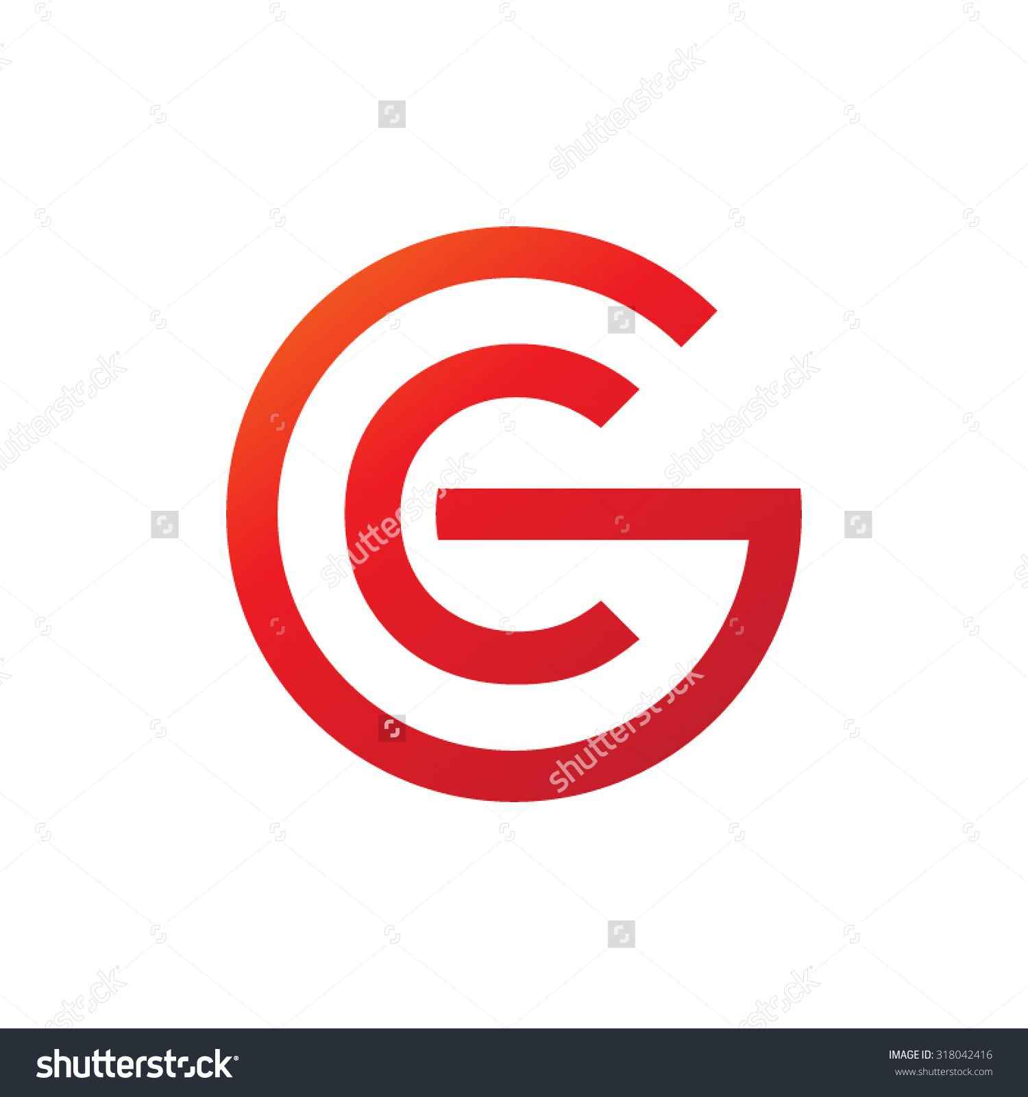 Logos Design With Letter Gc