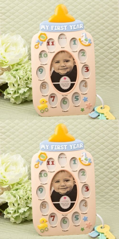 Baby Picture Frames 117392: 10 My First Year Baby Bottle Collage ...