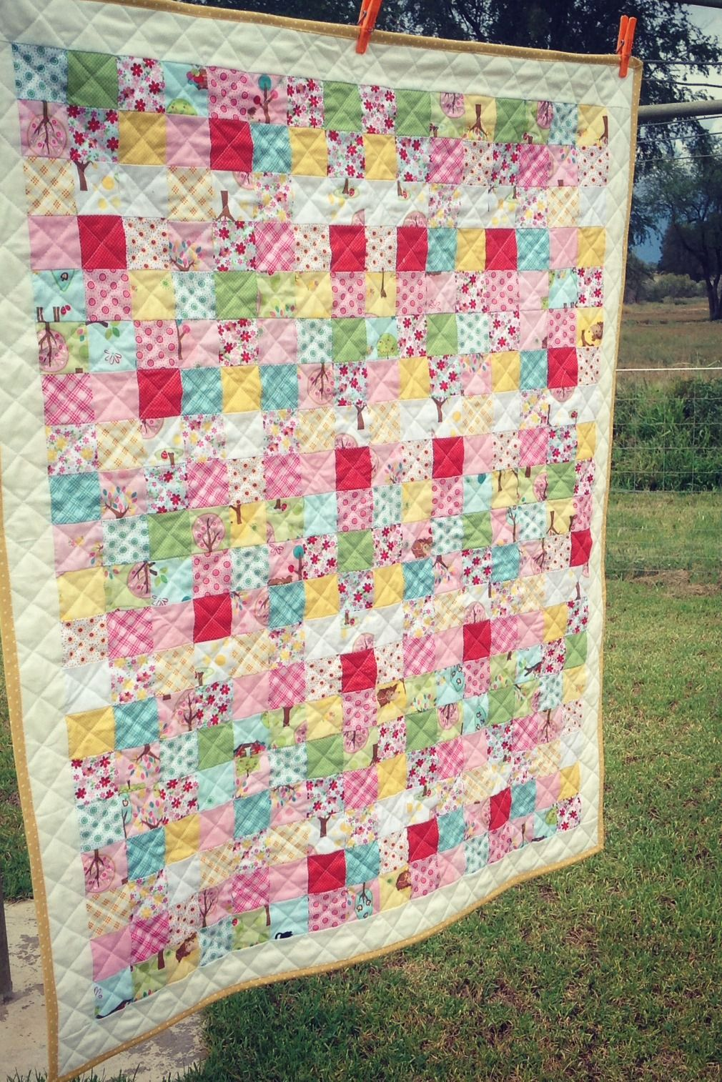 postage stamp baby quilt tutorial the Aunties could sign up for ... : quilting individual blocks - Adamdwight.com