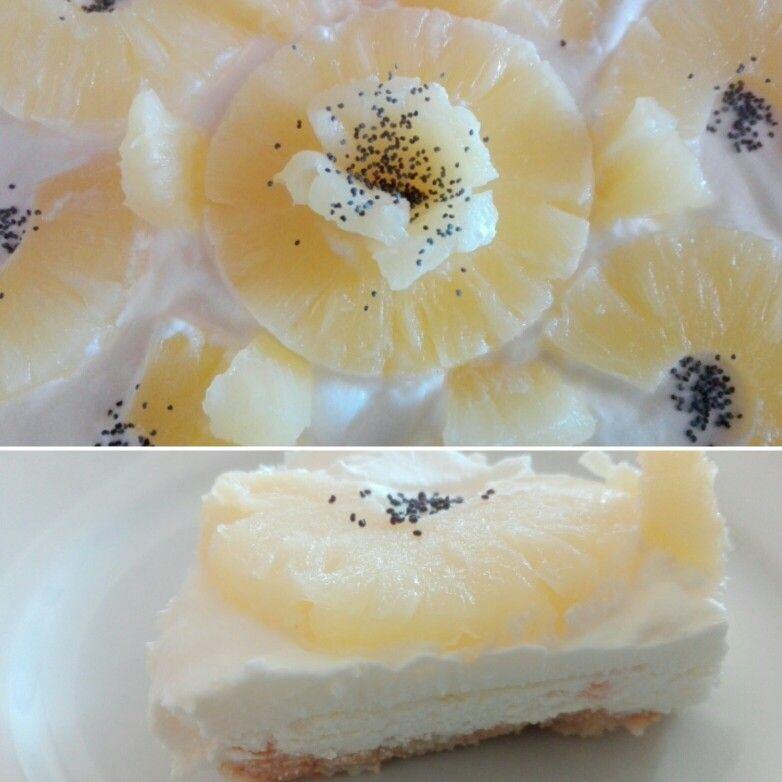Cheesecake ananas e limone