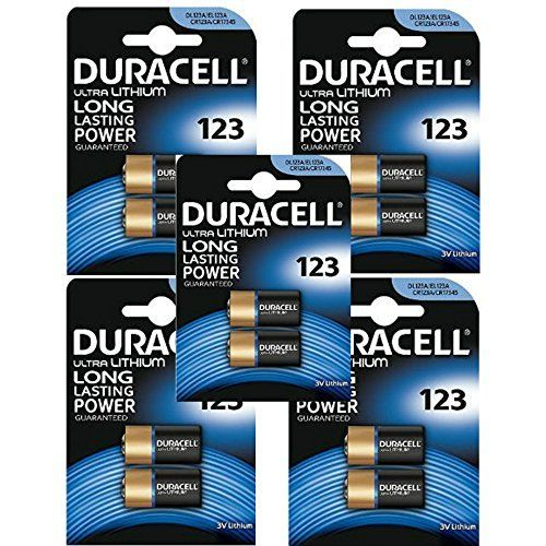 From 2059 10 X Cr123 3v Duracell Ultra Lithium Photo Battery