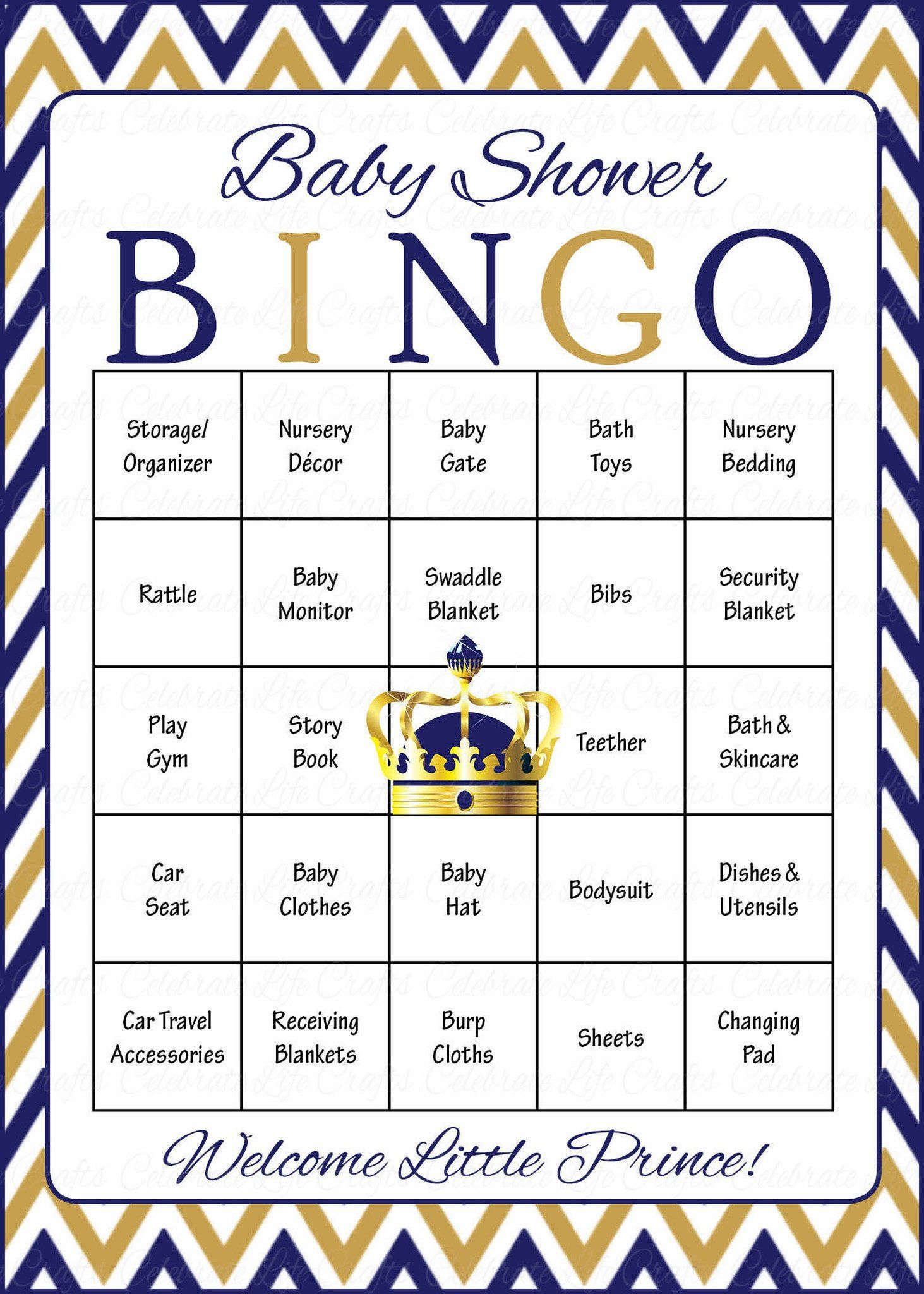 Prince baby bingo cards printable download prefilled baby prince baby bingo cards printable download prefilled baby shower game for boy navy gold solutioingenieria Gallery