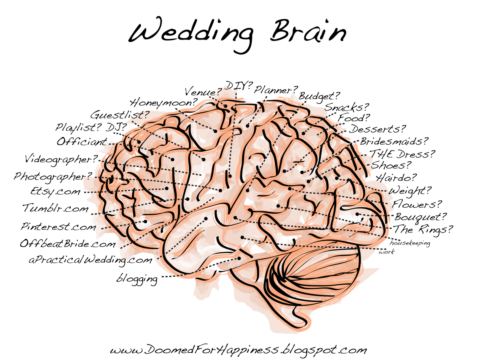 Cerebrum Diagram Hd Doomed For Hiness Wedding Brain Image