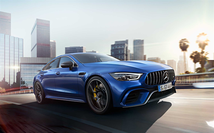 Download Wallpapers Mercedes Amg Gt 63 S Road 2019 Cars Blue Mercedes Amg German Cars Mercedes Besthqwallpapers Com Mercedes Amg Amg Amg Car