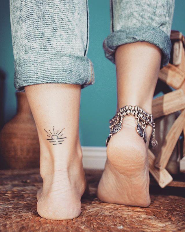 Waiting for the summer like ... #tattoo #tattoos #inspiration #smalltattoos #sun #sunset #sea #summer #theme #idea #travel #photography #photographer #nikon #boho #ankletattoo #bracelet #cute #photooftheday @igtattoogirls #instatattoo