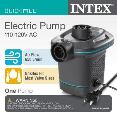 Phenomenal Intex 120V Ac Electric Air Pump Inflatable Ultra Lounge Onthecornerstone Fun Painted Chair Ideas Images Onthecornerstoneorg