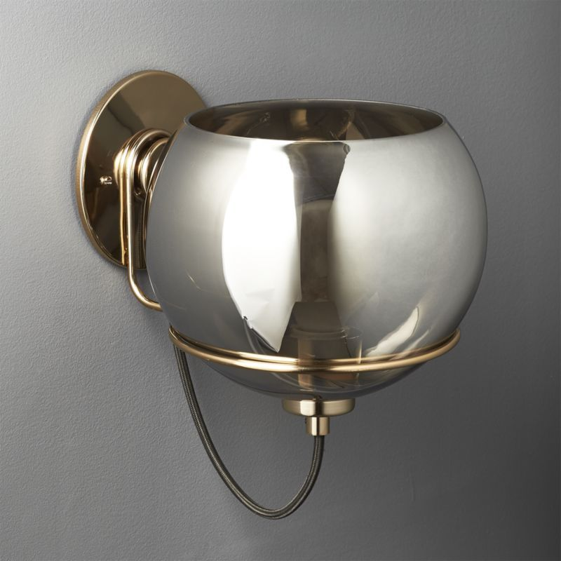 Rest Large Mirrored Wall Sconce CB2 Rest