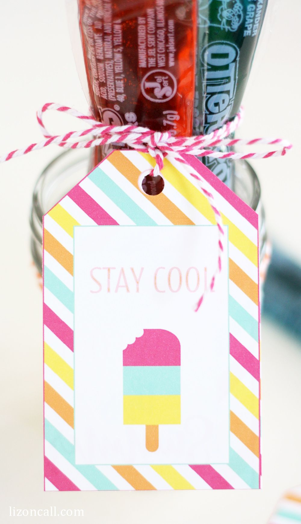 2bc86bf1c Give a summer treat to your friends and neighbors to help them stay cool  this summer. Make sure and attach these free printable stay cool summer  gift tags.