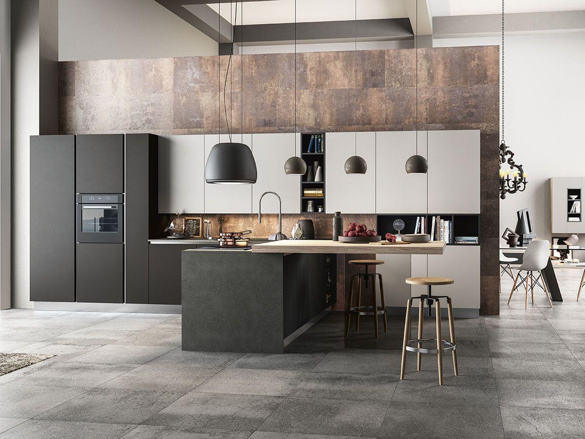 cucina con soggiorno lombardia | interior | pinterest | soggiorno ... - Cucine Arredissima