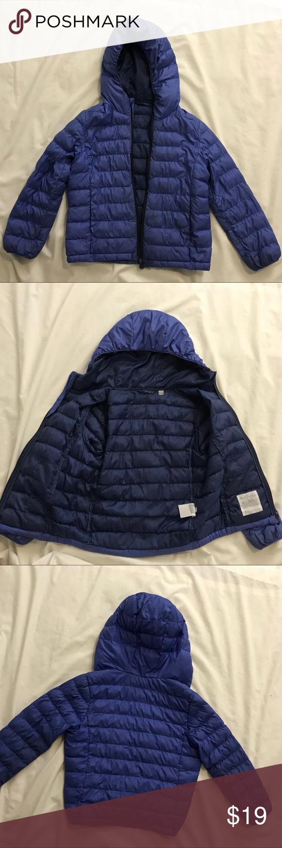 9590337c1 Uniqlo Kids boys lightweight blue puffer jacket Uniqlo kids boys ...