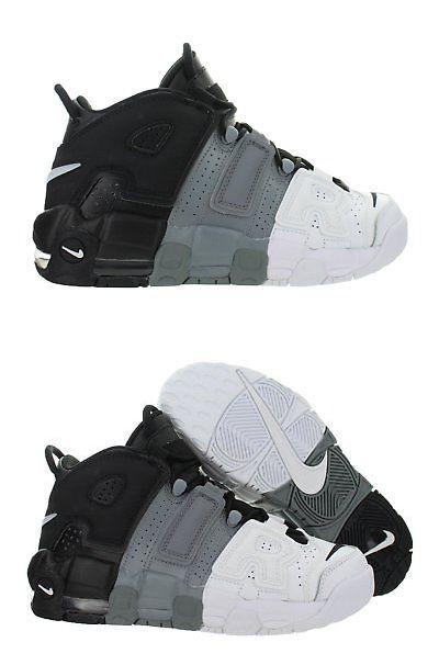 5cc56b664b8a ... where to buy boys shoes 57929 kids nike air more uptempo gs tri color  black cool ...