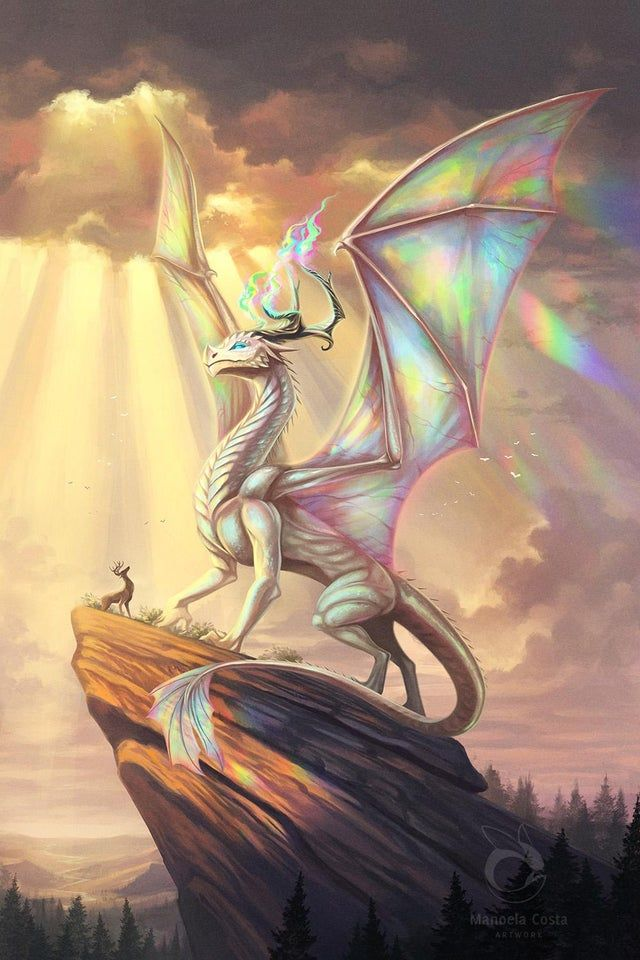 """Photo of Rainbow Dragon, because """"chromatic or metallic?"""" is just getting old [Art] [OC]"""
